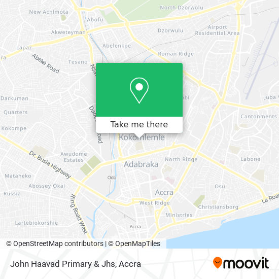 John Haavad Primary & Jhs map