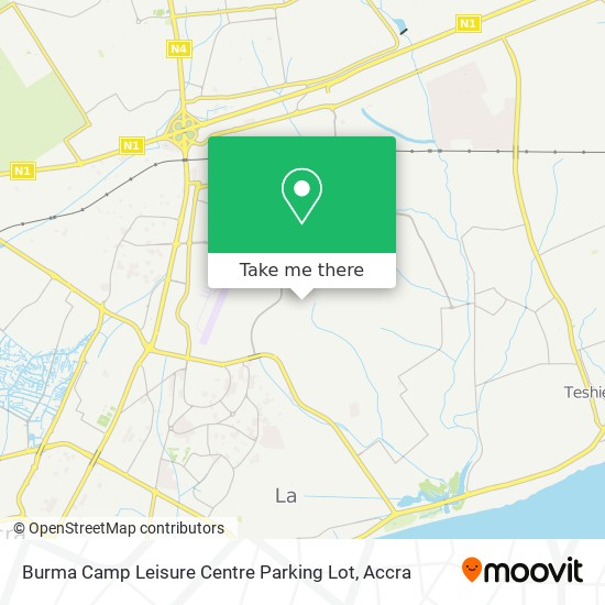 Burma Camp Leisure Centre Parking Lot map