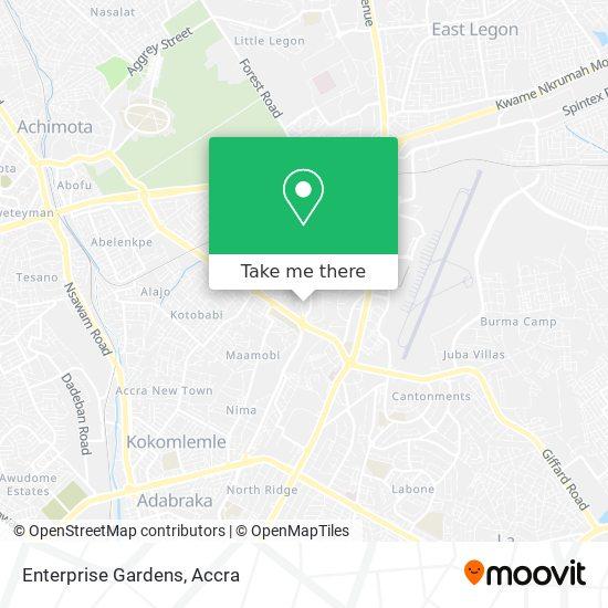 Enterprise Gardens map