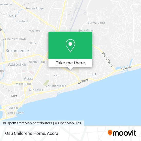 Osu Children's Home map