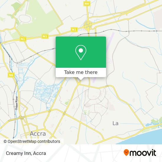 Creamy Inn map