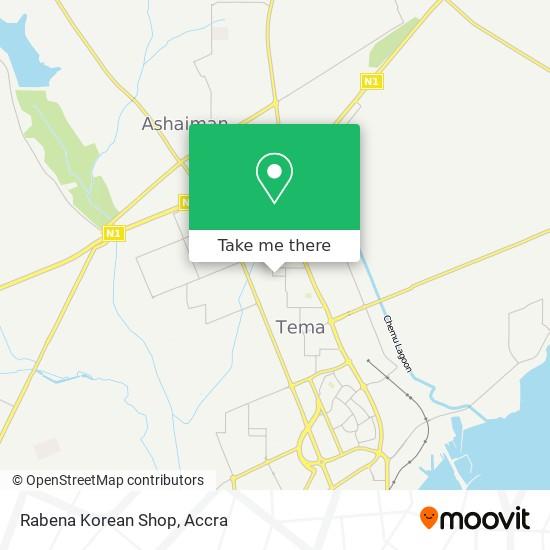 Rabena Korean Shop map