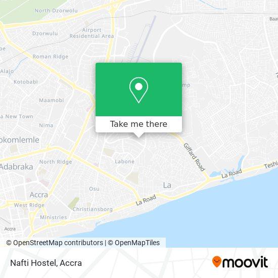 Nafti Hostel map