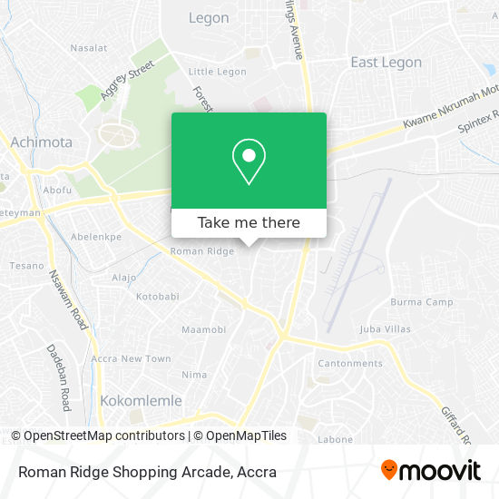 Roman Ridge Shopping Arcade map