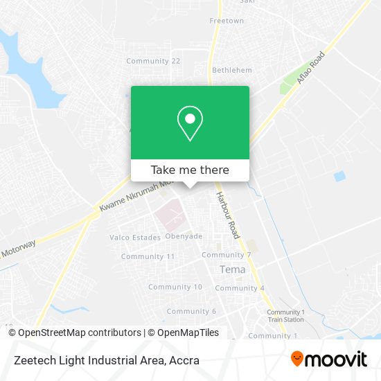 Zeetech Light Industrial Area map