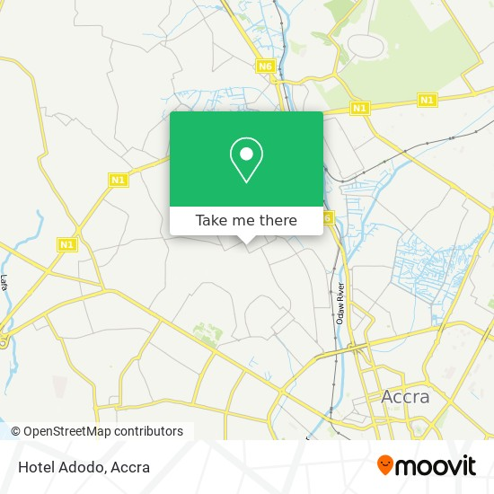 Hotel Adodo map