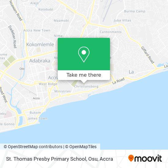 Presby Senior High School Osu map