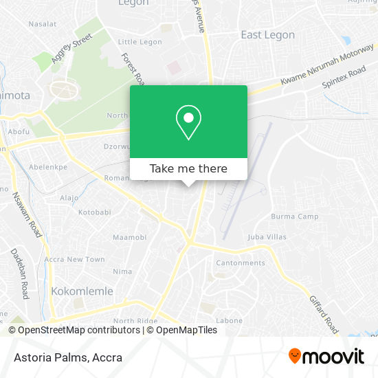 Astoria Palms map