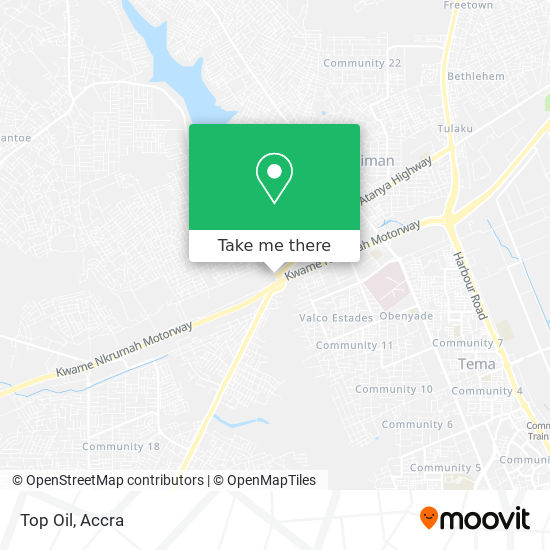 Top Oil map