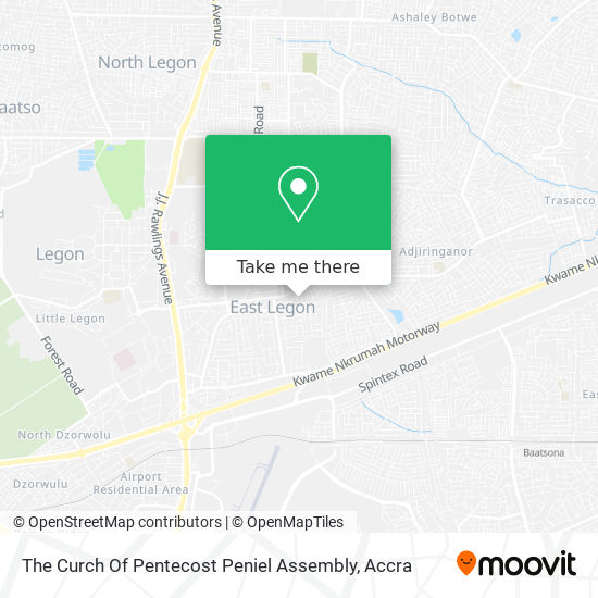 The Curch Of Pentecost Peniel Assembly map