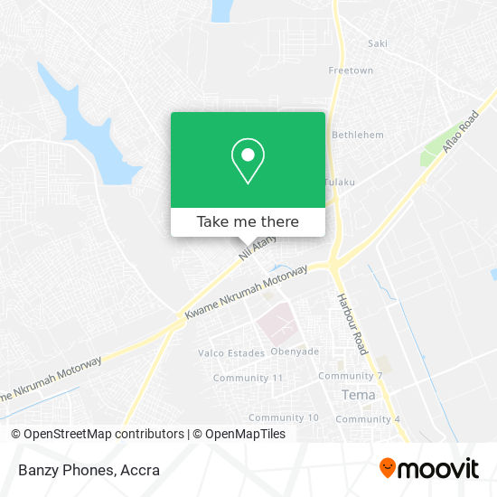 Banzy Phones map