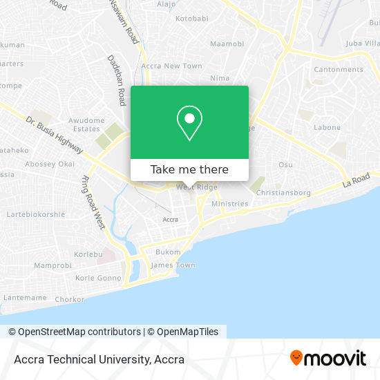 Accra Technical University map