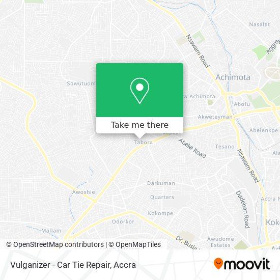 Vulganizer - Car Tie Repair map