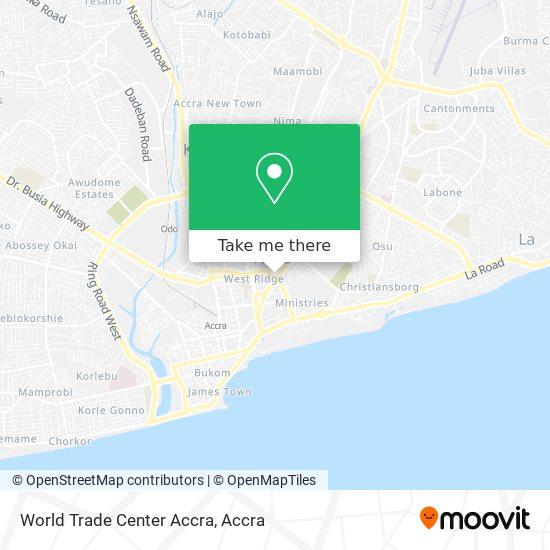 World Trade Center Accra map