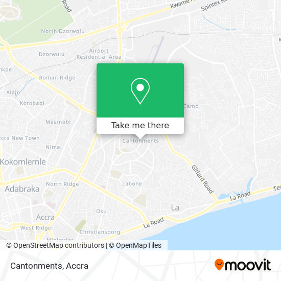 Cantonments map