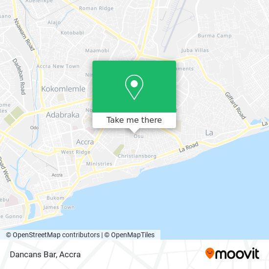 Dancans Bar map