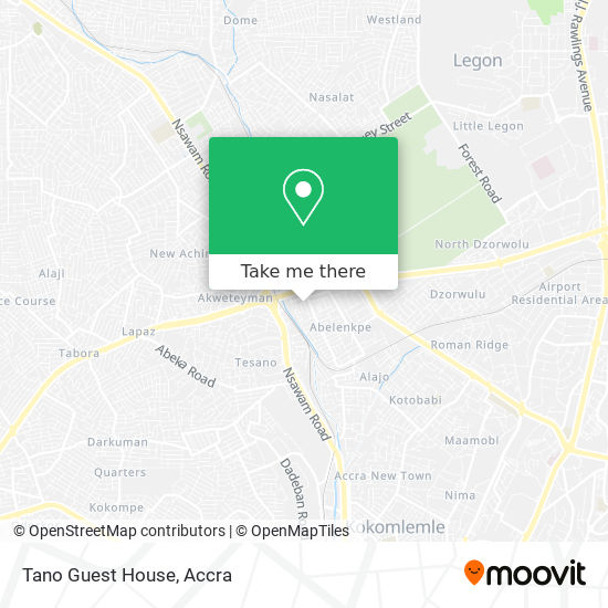 Tano Guest House map