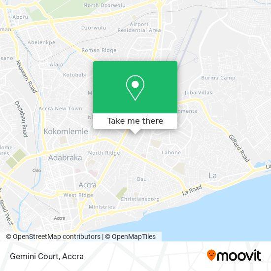 Gemini Court map