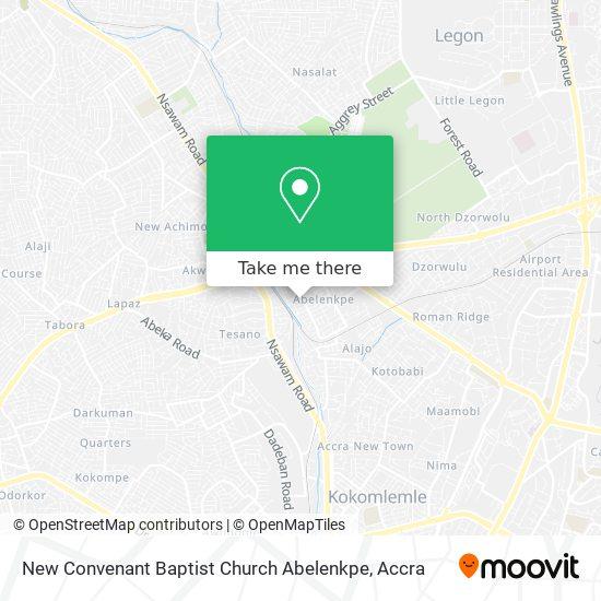 New Convenant Baptist Church Abelenkpe map