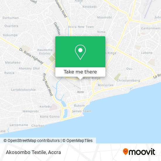 Akosombo Textile map