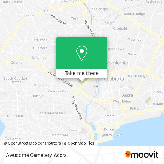 Awudome Cemetery map