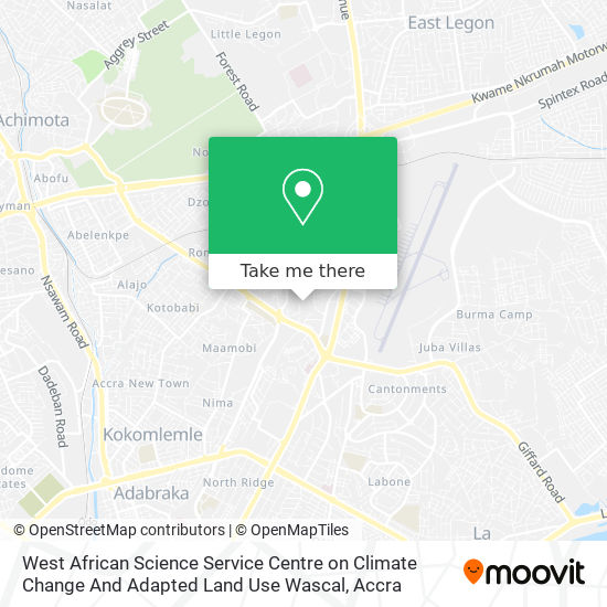 West African Science Service Centre On Climate Change And Adapted Land Use Wascal map