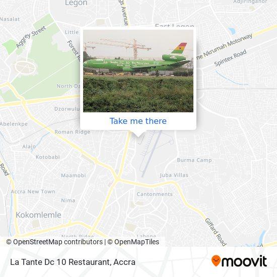 La Tante Dc 10 Restaurant map