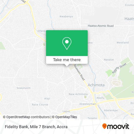 Fidelity Bank, Mile 7 Branch map