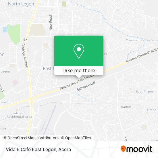 Vida E Cafe East Legon map