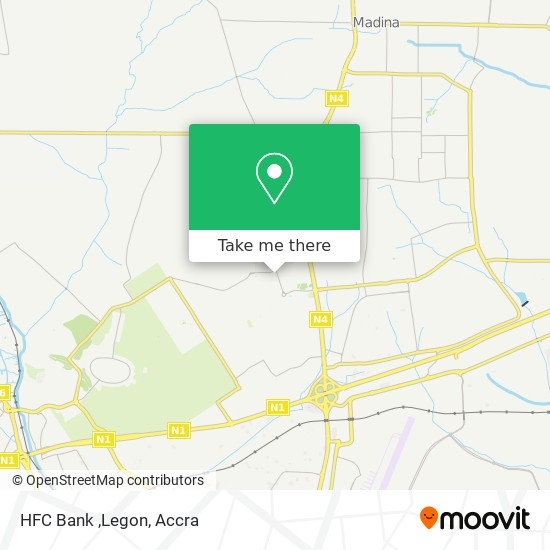 HFC Bank ,Legon map