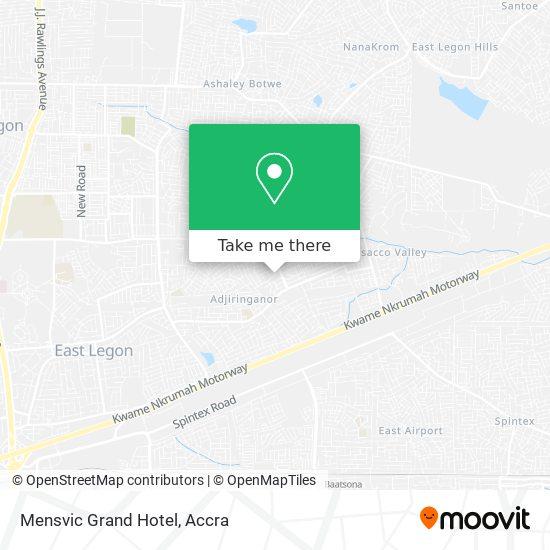 Mensvic Grand Hotel map