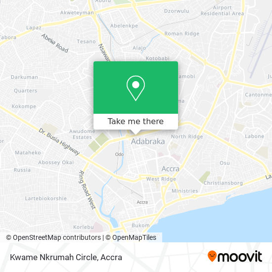 Kwame Nkrumah Circle map
