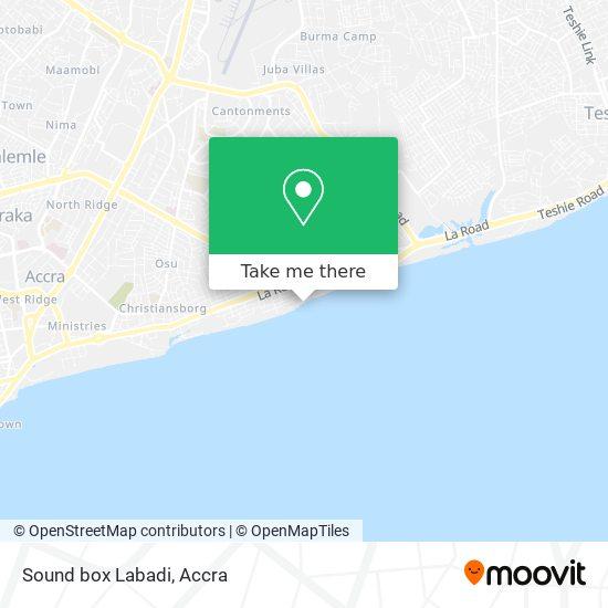 Sound box Labadi map