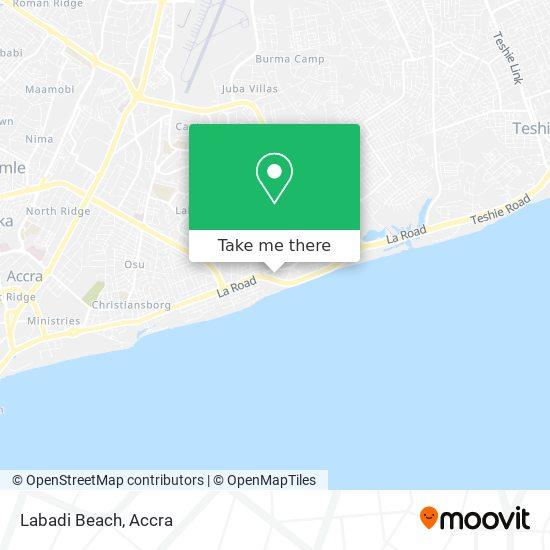 Labadi Beach map