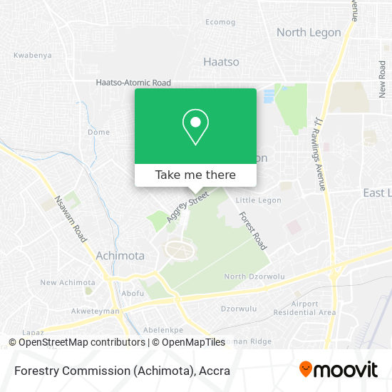 Forestry Commission (Achimota) map