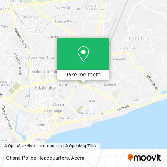 Ghana Police Headquarters map