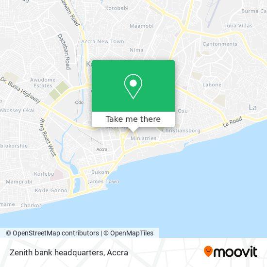 Zenith bank headquarters map