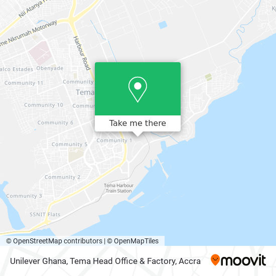 Unilever Ghana, Tema Head Office & Factory map
