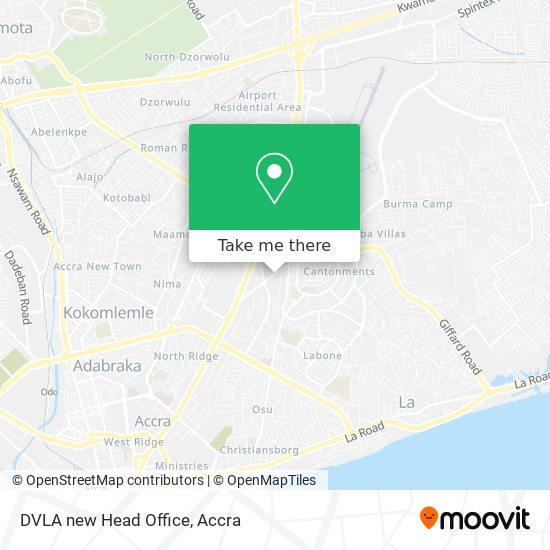 DVLA new Head Office map