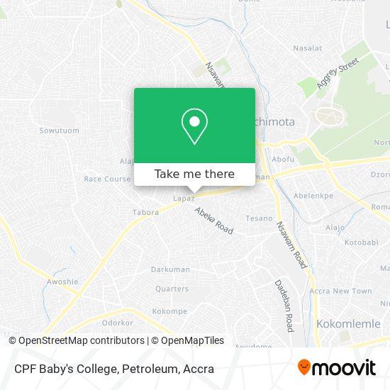 CPF Baby's College, Petroleum map