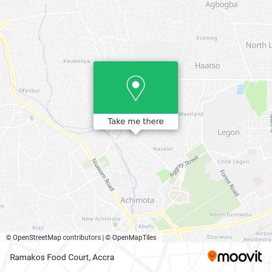 Ramakos Food Court map