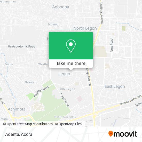 Adenta map