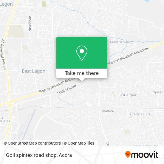 Goil spintex road shop map