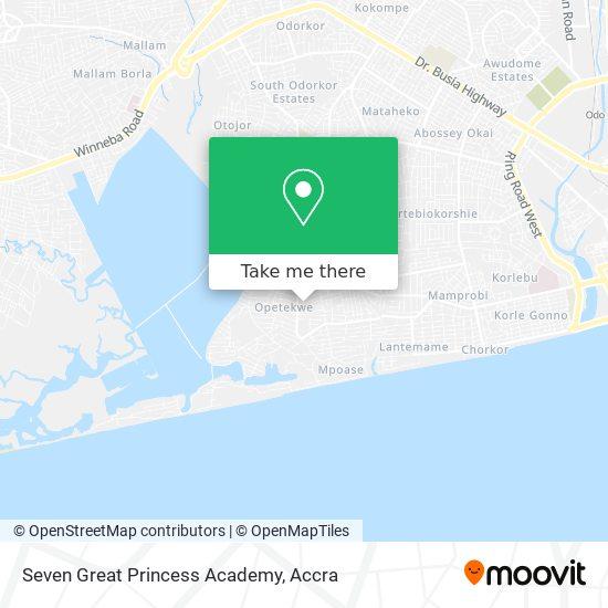 Seven Great Princess Academy map