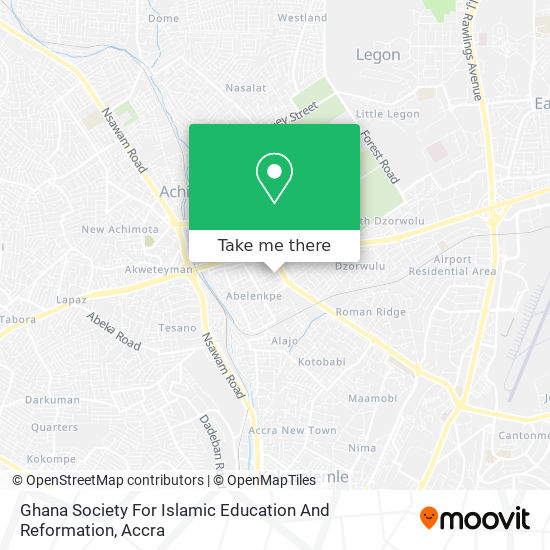 Ghana Society For Islamic Education And Reformation map