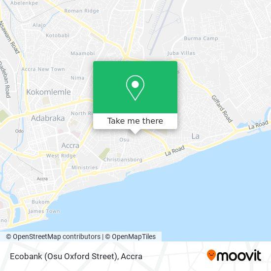 Ecobank (Osu Oxford Street) map