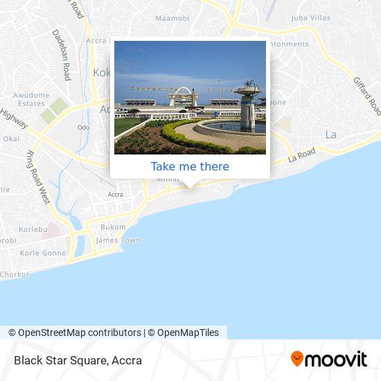 Black Star Square map