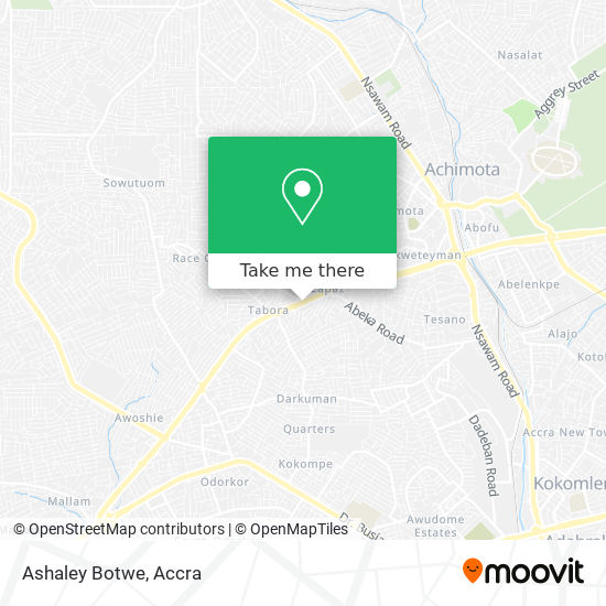 Ashaley Botwe map