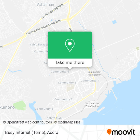 Busy Internet (Tema) map