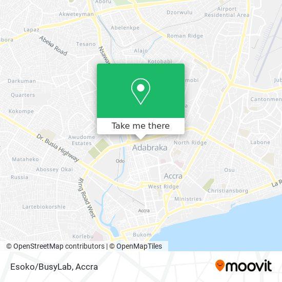 Esoko/BusyLab map